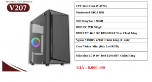 Thùng PC Core i5-4570s/H81/Ram 4GB/SSD 120GB/HDD 500GB